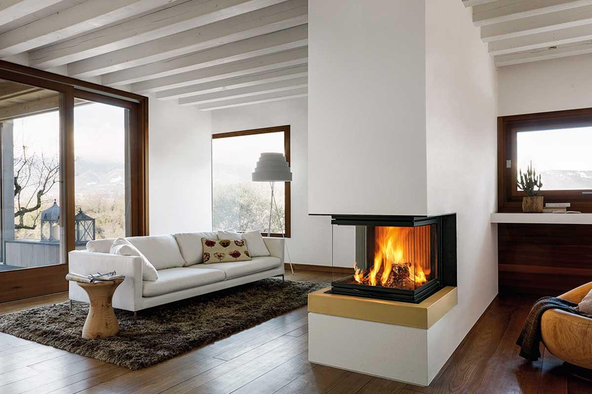 Camino Aperto Su Tre Lati inserti per camino a legna: come riscaldare la stanza