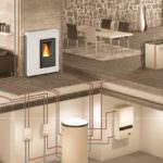 Con la stufa a pellet idro puoi alimentare l'impianto di riscaldamento per uso domestico, avere l'acqua calda uso sanitario e collegare i tuoi termosifoni