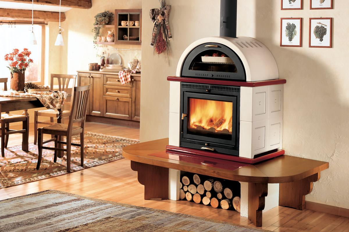 Stufa a legna con forno il piacere di riscaldare casa mentre cucini - Stufe a pellet a basso costo ...