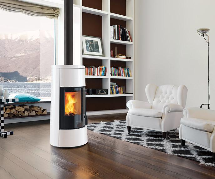 Riscaldare casa con poco si può, scegli le stufe ermetiche - Piazzetta Modello E924M Colore Bianco