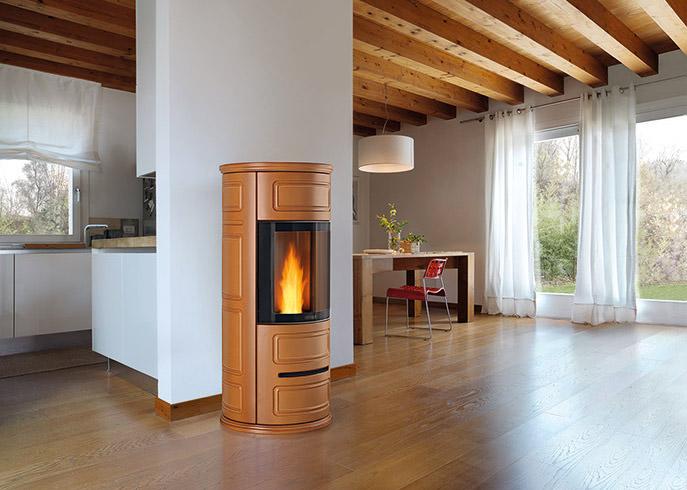Casa Passiva, la casa di Classe A o B: il riscaldamento con la stufa ermetica