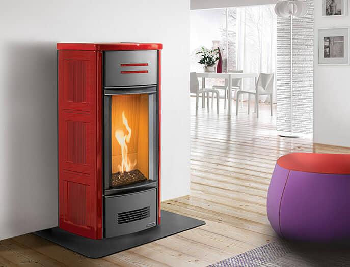 Stufa a gas Piazzetta Modello G963 colore rosso lava