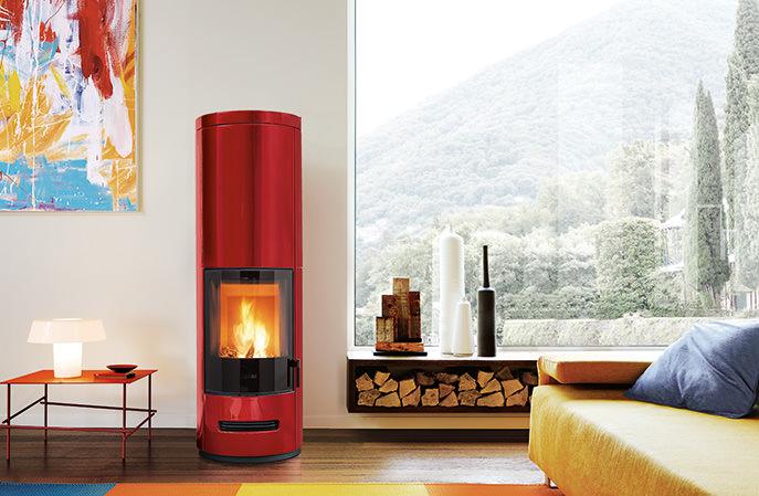 Stufe ad accumulo calore e a basso consumo di legna