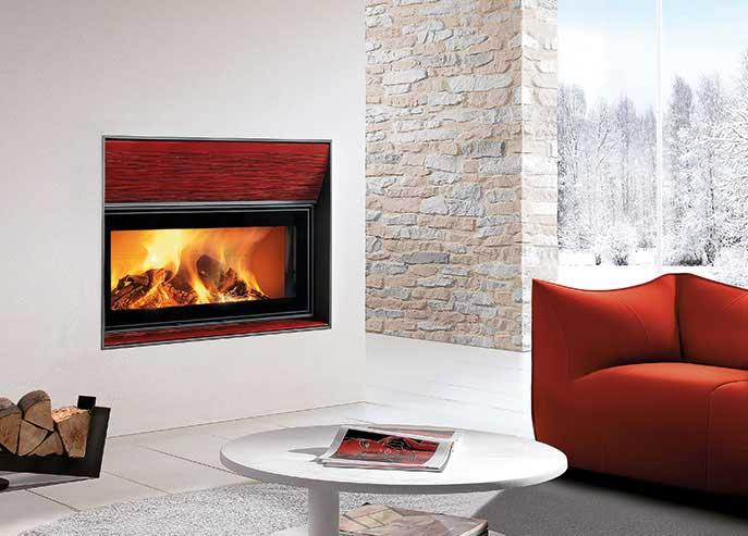 Camino bifacciale-modello colonia rosso lava-By Piazzetta