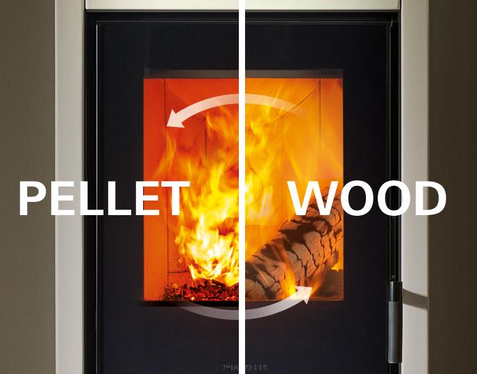 Stufa a legna e pellet