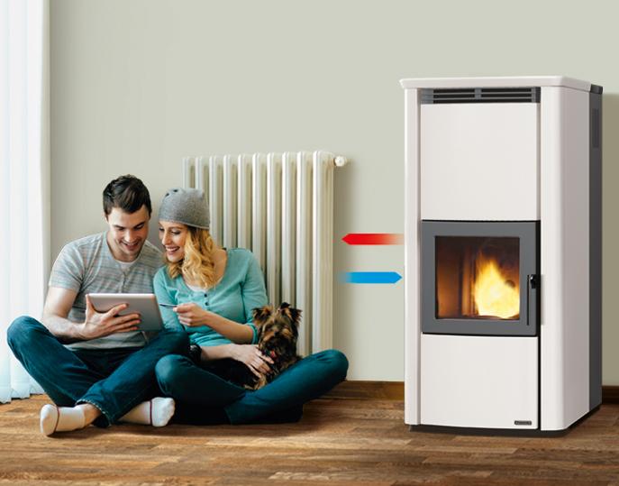 Thermo stufa a pellet per riscaldare i radiatori