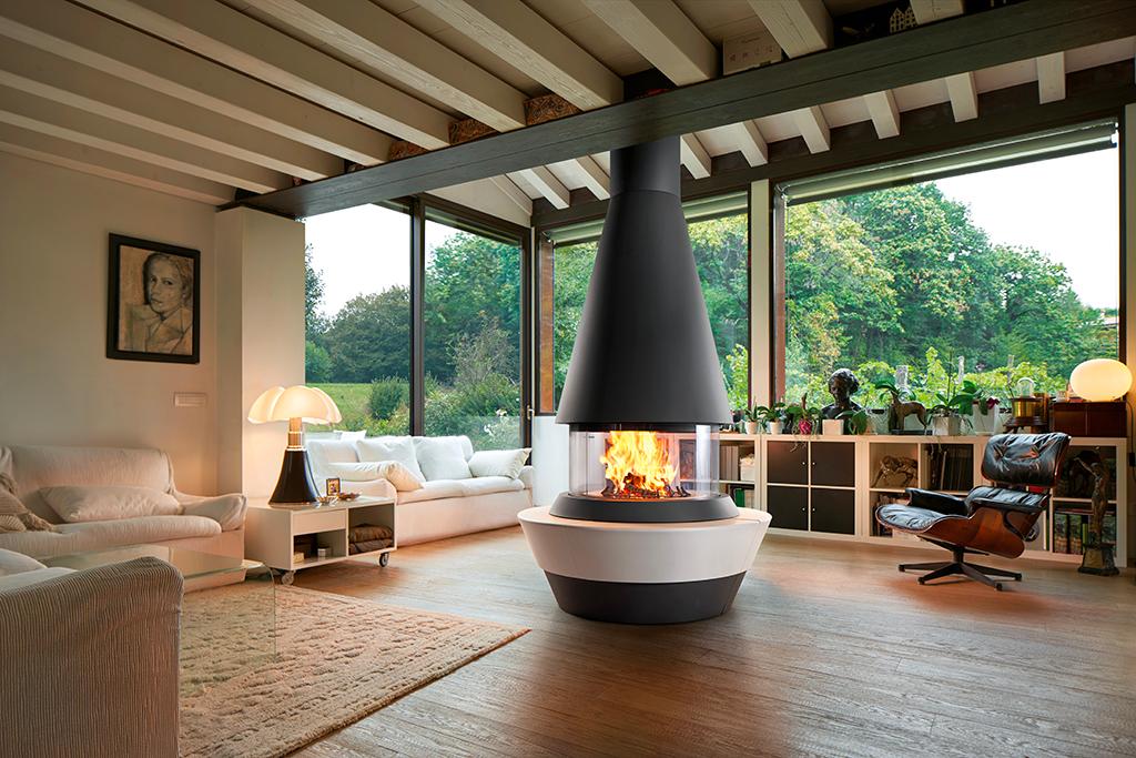 Caminetto panoramico Bergen di Piazzetta Design